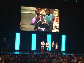 5 Cody asking a question on the big screen